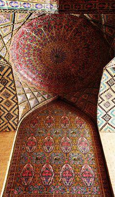 Nasir Al-Mulk Mosque, Shiraz, Iran http://www.designhome.ae/category/architecture_design/