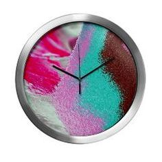 sand, pink, brown td Modern Wall Clock > sand, nature and colorful > MehrFarbeimLeben