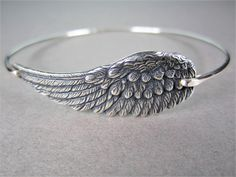 Gold Angel Wing Bracelet Angel Wing Wing Jewelry by BaubleVine Jewelry Design Earrings, Feather Jewelry, Garnet Jewelry, Silver Jewellery, Silver Rings, Girls Jewelry, Cute Jewelry, Fashion Rings, Fashion Jewelry