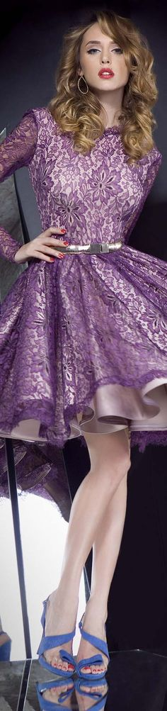 I just adore the idea of using a lace overlay over metallic PVC fabric, the wide skirt part looks really stunning...