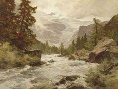 edward harrison compton paintings | mountainous river landscape