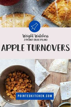 These easy to make Apple Turnovers are just 2 SmartPoints per serving on Weight Watchers Blue, Purple Freestyle plans. They are 3 SmartPoints on the Green plan. If you are looking for a low point WW dessert then you will love these! Weight Watchers Apple Recipes, Weight Watchers Chicken, Weight Watchers Desserts, Ww Desserts, Apple Desserts, Dessert Recipes, Quick Apple Dessert, Lunch Recipes, Diet Recipes