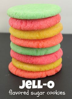 Jell-O Flavored Sugar Cookies - super easy and fun to make! @whatchamakinnow