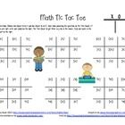 Help build your students fluency of addition and subtraction facts within 10, by letting them play Math Tic Tac Toe. Print and place in a plastic s...