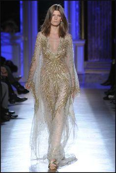 Summer long dresses 2012 Zuhair Murad golden sequin dresses 2012 ...