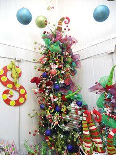 Never Listless: 22 Funky, Unusual, Alternative Christmas Trees  whimsical whoville tree