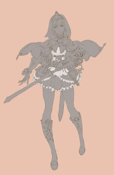 151206-girls : 네이버 블로그 Character Design References, Game Character, Character Concept, Concept Art, Character Illustration, Illustration Art, Female Knight, Figure Sketching, Cool Sketches