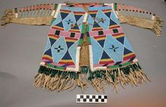 Overall: 74 x 47 x 1 cm x 18 x in.) Collector: Unknown Peabody Museum of Archaeology and Ethnology. Ancient Art, Ancient Egypt, Ancient History, Native American Shirts, American Indians, Peabody Museum, Crow Art, Kids Coats, Folk Costume