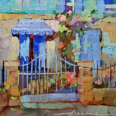 """Candy Colors of France"" 6"" x 6"" - Sold"