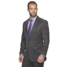 Men's+Marc+Anthony+Slim-Fit+Gray+Shark+Wool-Blend+Suit+Jacket