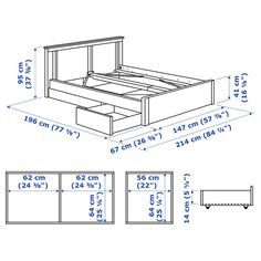Sized proportionally in relation to a variety of standard bed sizes, Bed Frame Legs, Steel Bed Frame, Diy Bed Frame, Under Bed Storage, Storage Boxes, Storage Spaces, Ikea Storage, Plastic Drawers, Home Decor Accessories