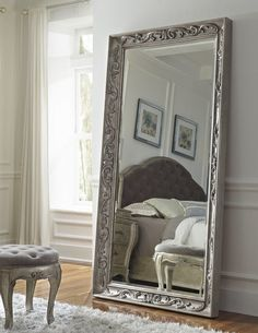 Beaded Floor Mirror at Horchow for dining room area. Description ...