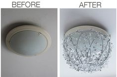 Now you can convert a blah looking light fixture into a beautiful piece in just one hour.
