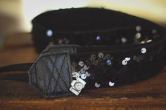The most beautiful camera straps ever! Camera Strap: handmade luxury scarf strap photography accessory floral spring 2015 trending fashion charm rhinestone made by hand studio love black sequin velvet glamour gala chic sleek evening