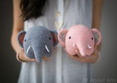 Crochet Elephant By Stephanie - Free Crochet Pattern - (allaboutami)