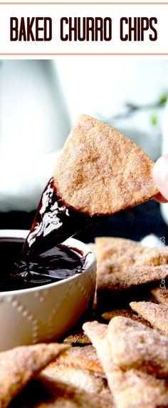 Easy Baked Churro Chips AKA Cinnamon Chips   http://www.carlsbadcravings.com/cinnamon-chips/