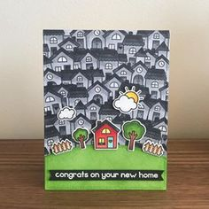 Card for a friend who just got a new apartment. #lawnfawn