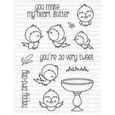 Clearly Besotted BIRD BATH Clear Stamp Set
