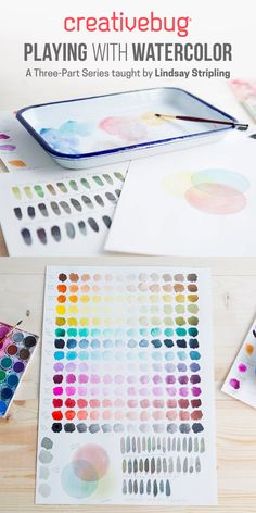 CreativeBug CLASS: Playing with Watercolor by Lindsay Stripling #watercolor #class