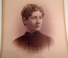 Antique Cabinet Card Photo Rome NY Brainerd Photograph Kate Gifford Vintage