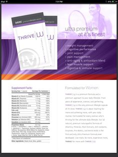 Thrive women capsules www.AmyGriffin.Le-Vel.com