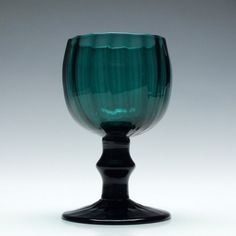 Antique century rib moulded wine glass with a knopped stem, a beautiful coloured addition to a glassware collecion Wine Glass, Glass Art, Drinking Glass, Iron Oxide, British Isles, Georgian, Bristol, 18th Century