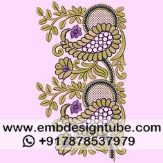 Aari Embroidery, Embroidery Designs, Textile Patterns, Textiles, Border Design, Appliques, Damask, Designers, Sketch