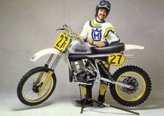 Billy Grossi and his factory Husky.  Back when the riders displayed the bike manufacture they were riding for.