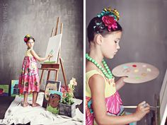 Love this whole Frida Kahlo-inspired shoot. So much fun!