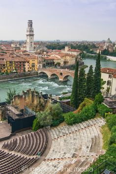 Verona straddles the Adige river in Veneto Italy. Verona straddles the Adige river in Veneto Italy. Places Around The World, Oh The Places You'll Go, Places To Travel, Places To Visit, Around The Worlds, Travel Destinations, Dream Vacations, Vacation Spots, Italy Vacation