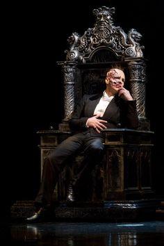 Hugh Panaro in the Phantom's throne- such a beautiful set piece!