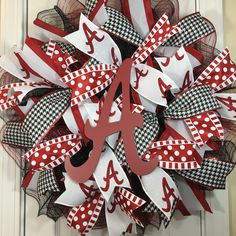 Excited to share this item from my shop: Alabama Wreath, University of Alabama Wreath, Crimson Tide Wreath, Deco Mesh Ribbon, Deco Mesh Wreaths, Alabama Door Hanger, Football Wreath, Alabama Football, Crimson Tide, Alabama Crimson, Alabama Wreaths, Football Party Decorations