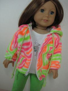 18 Doll Clothes American Girl Fleece Jacket  in by nayasdesigns, $15.00