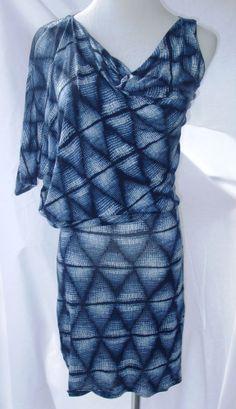 """NWT BCBG MAX AZRIA """"Kesi"""" Mini Dress Bodycon Stretch Blue White Sexy Sz XS 2 4 #BCBGMAXAZRIA #StretchBodycon #Clubwear"""