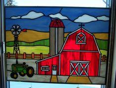 Farm Scene - Delphi Stained Glass