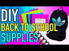 Back to School: DIY supplies + Giveaway! (closed) - YouTube