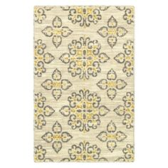 @Michelle Kopfer   Saw this at target today and loved it. might make a good sub for one of our rugs. its whiter than this photo shows  Shaw Living® Global Tiles Accent Rug - Gray/Yellow (2'x3')