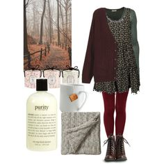 """""""I like it when the leaves fall"""" """"Me too"""" by ahsstyle on Polyvore featuring polyvore, fashion, style, NOVA, Topshop, American Vintage, ASOS, Chelsea Crew, philosophy and Bedeck"""