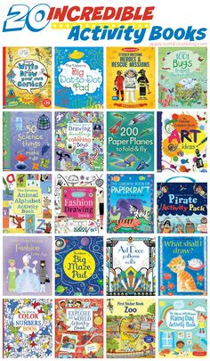 20 Incredible Activity Books for Kids of All Ages!!! Mom and teacher approved!
