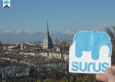 Surus con vista sulla Mole di Torino (Italia) / Surus and the Mole in Turin (Italy) ☛ www.surus.org