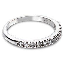 0.24 CTW Diamond Wedding Band in 14KT White Gold.