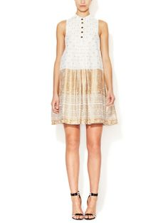 Cotton Pleated Bib Dress by Lamb on sale now on Gilt.