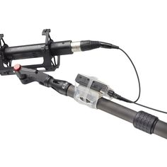Multi-purpose solution to mount a transmitter or mobile device to a boom pole, tripod or other tube shaped object.