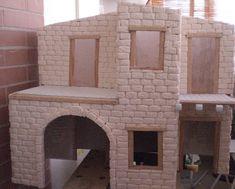 Foro de Belenismo - Paso a paso -> Una casita para el belen House Beautiful, Beautiful Homes, Liliana, Villas, Mirror, Furniture, Home Decor, Rustic Homes, Nativity Sets
