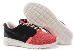 newest 44bb4 375bf Men s Nike Roshe Run NM BR Shoes Black Red Seasonal clearance More color  ,more design available!