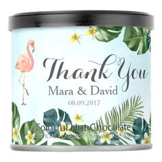 Tropical Flamingo Powdered Drink Mix - kitchen gifts diy ideas decor special unique individual customized