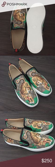 Gucci Bengal Slip-Ons If Interested Email Me At dgproducts01@gmail.com Or Text My Number 708-414-0458 With IMAGE/SIZE To Purchase. Gucci Shoes Loafers & Slip-Ons
