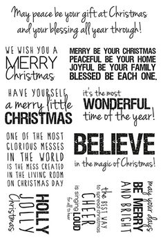 Kaisercraft - Clear Acrylic Stamp - Christmas Quotes at Scrapbook.com