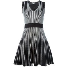 Opening Ceremony Striped Knit Dress (2.630 BRL) ❤ liked on Polyvore featuring dresses, black, striped dress, black dress, stripe knit dress, black knit dress and black stripe dress
