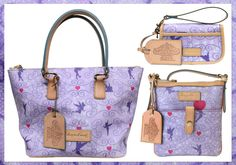 NEED! Dooney & Bourke Tinker Bell silhouette pattern handbags to commemorate the 2013 Tinker Bell Half Marathon
